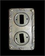 2er Elektroschalter-Abdeckung aus Messing