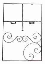Fenstergitter 84cm x 125cm