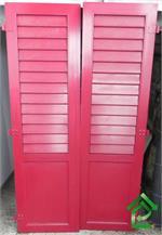 Gebrauchte Aluminium-Fensterläden rot