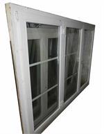 Gebrauchtes Fenster Holz, 3-Flüglig mit Sprossen